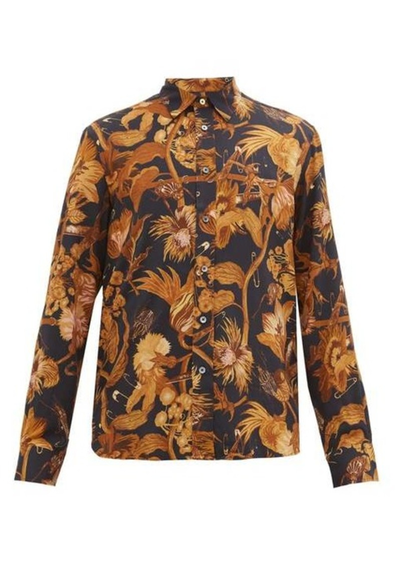 Paul Smith Floral-print crepe shirt