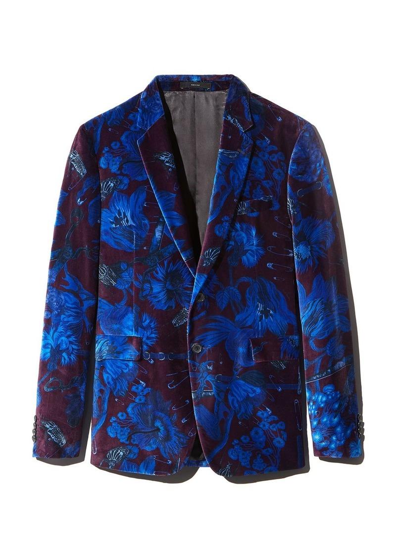 Paul Smith Floral Velvet Extra Slim Fit Jacket