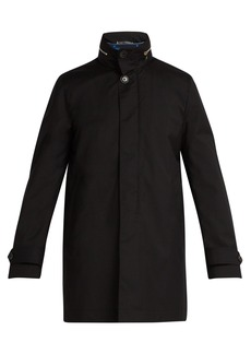 Paul Smith High-neck gilet-lined wool peacoat