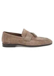 Paul Smith Hilton Signature-stripe tasselled suede loafers