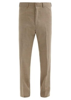 Paul Smith Houndstooth wool-twill straight-leg trousers