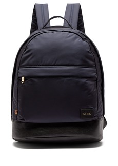 Paul Smith Leather-trimmed backpack