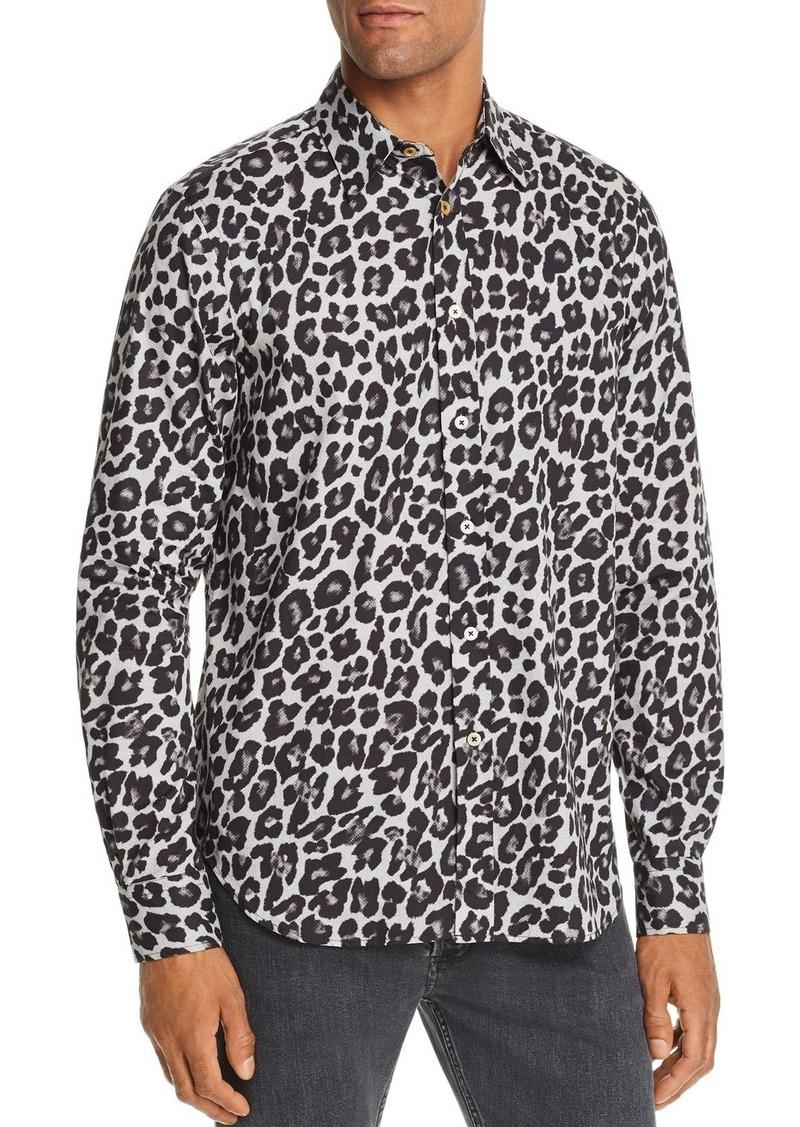 Paul Smith Leopard Print Slim Fit Shirt