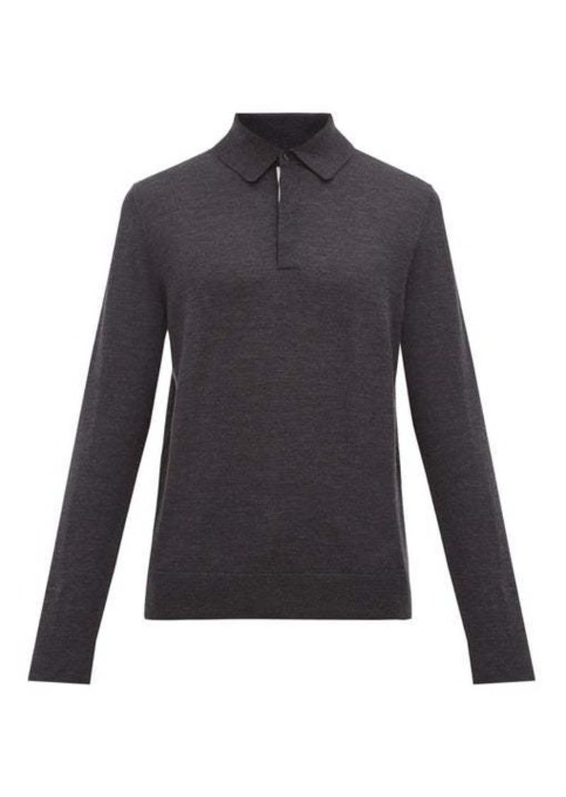 Paul Smith Long-sleeved merino-wool polo shirt