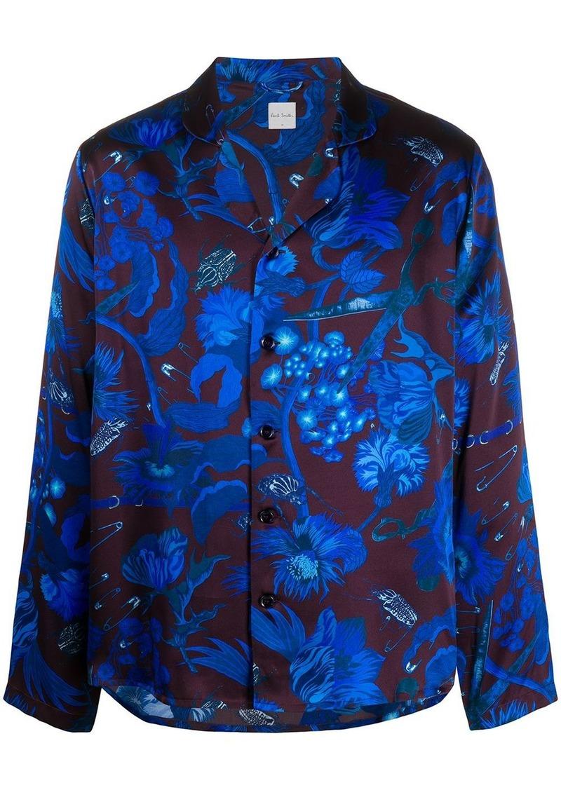 Paul Smith Beetle Botanical print silk pyjamas