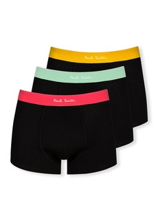 Paul Smith Men's 3-Pack Boxer Briefs with Color Bands