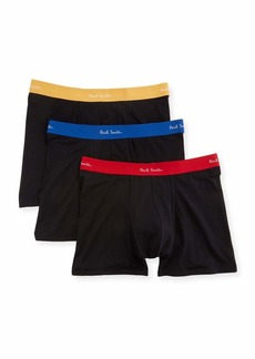 Paul Smith Men's 3-Pack Contrast-Trim Long-Leg Trunks