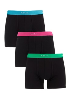 Paul Smith Men's 3-Pack Long-Leg Neon Trunks
