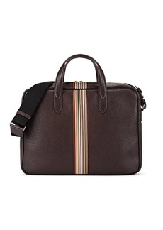 Paul Smith Men's Leather Briefcase - Wine