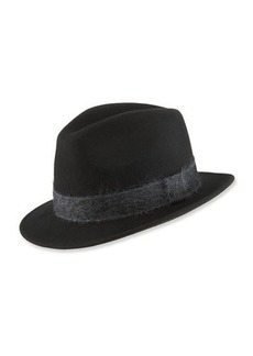 Paul Smith Men's Mohair-Band Trilby Hat
