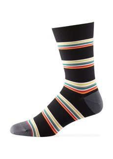 Paul Smith Men's Striped Knit Cycling Socks
