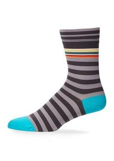 Paul Smith Men's Striped Knit Socks