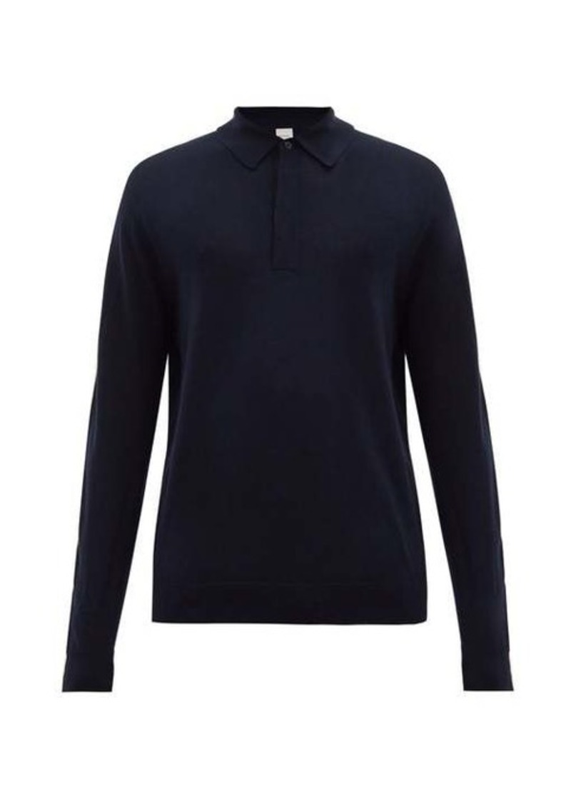 Paul Smith Merino-wool long-sleeved polo shirt