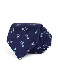 Paul Smith Mini Multicolored Flowers Silk Classic Tie