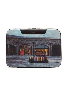 Paul Smith Mini-print canvas pouch