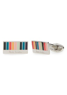 Paul Smith Ministripe Logo Cuff Links