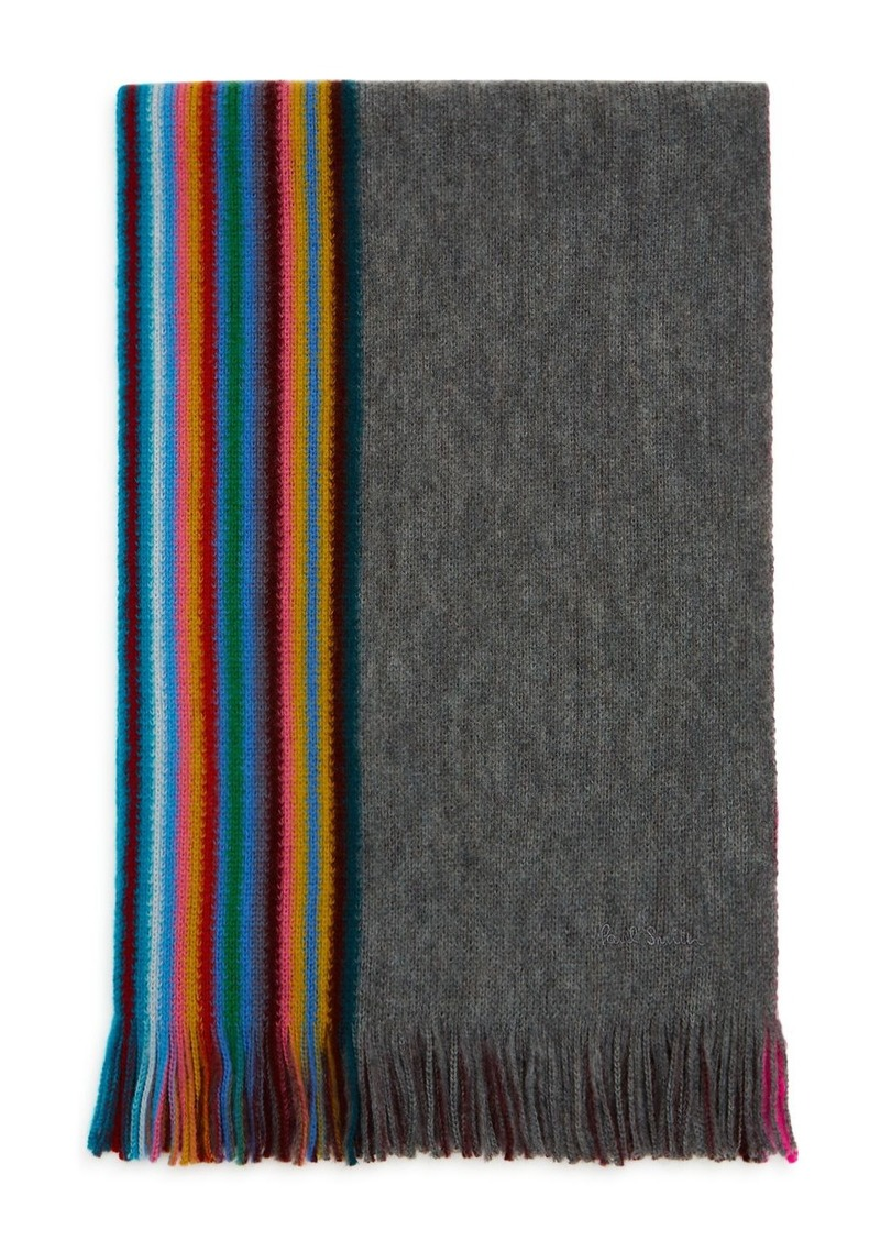 Paul Smith Multi-Edge Striped Scarf