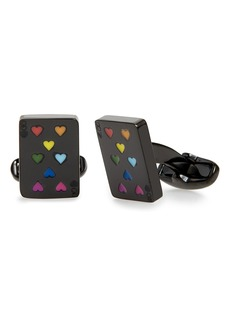 Paul Smith Multicolor Hearts Playing Card Cuff Links