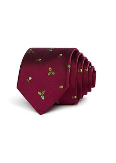 Paul Smith Narrow Rose Pattern Skinny Tie