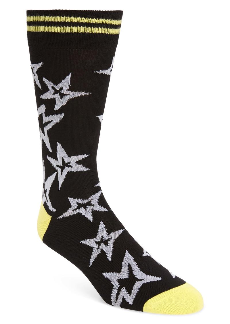 Paul Smith Neon Star Socks