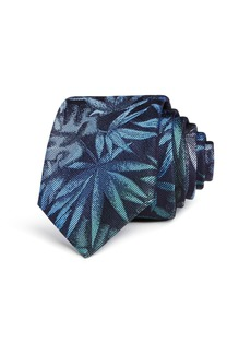 Paul Smith Ombr� Palm Leaf Silk Skinny Tie