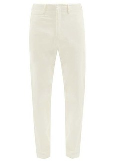 Paul Smith Organic-cotton blend twill straight-leg trousers