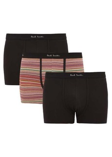Paul Smith Pack of three cotton-blend boxer briefs