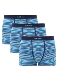 Paul Smith Pack of three striped cotton-blend boxer briefs
