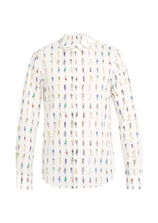 Paul Smith People-print cotton shirt