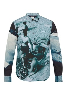 Paul Smith Photographic beach-print cotton shirt
