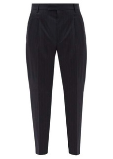 Paul Smith Pinstriped wool-blend slim-leg trousers