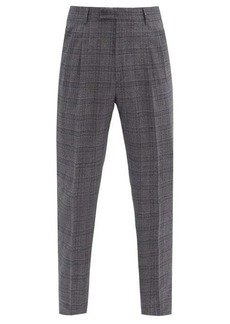 Paul Smith Pleated check wool-blend twill suit trousers