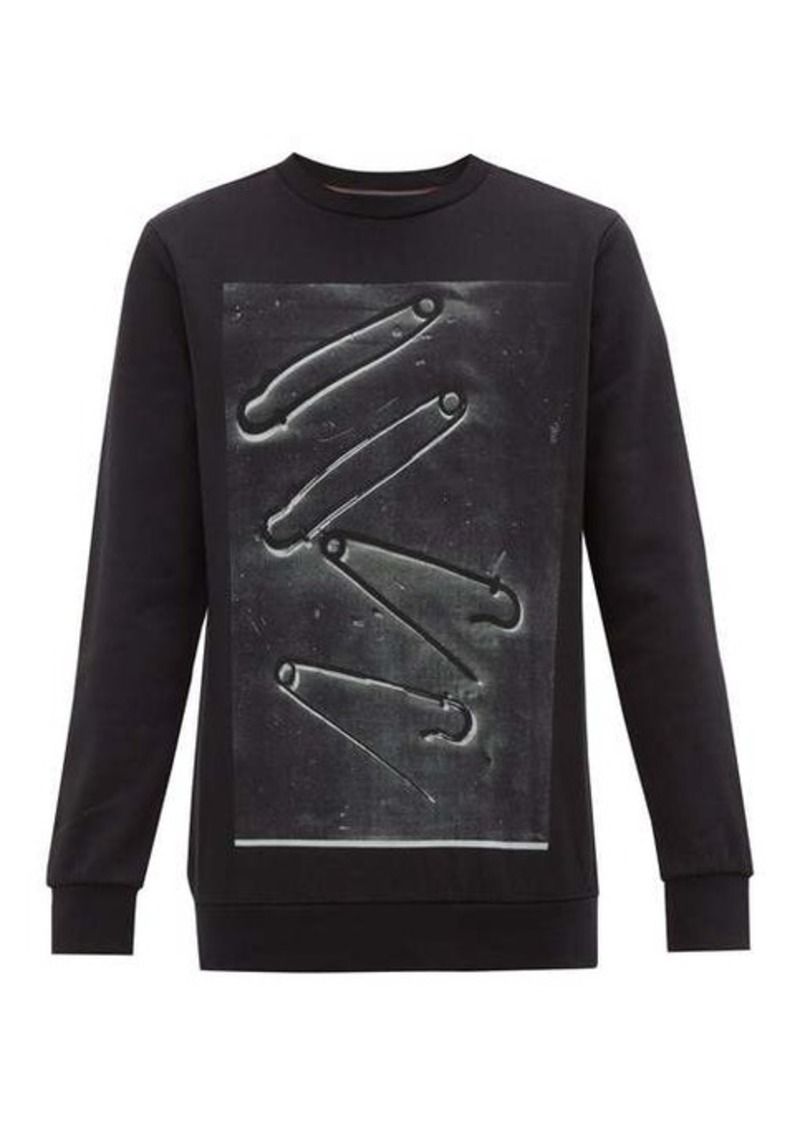 Paul Smith Safety pin-print cotton-jersey sweatshirt