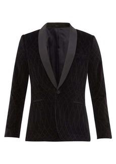 Paul Smith Shawl-lapel patterned velvet tuxedo jacket