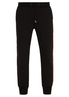 Paul Smith Side-stripe tapered-leg cotton track pants