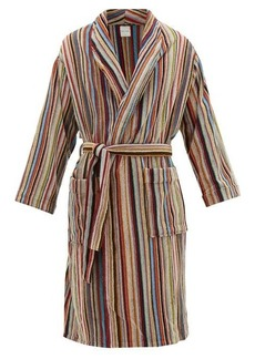 Paul Smith Signature stripe cotton bathrobe