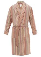 Paul Smith Signature stripe cotton-poplin robe