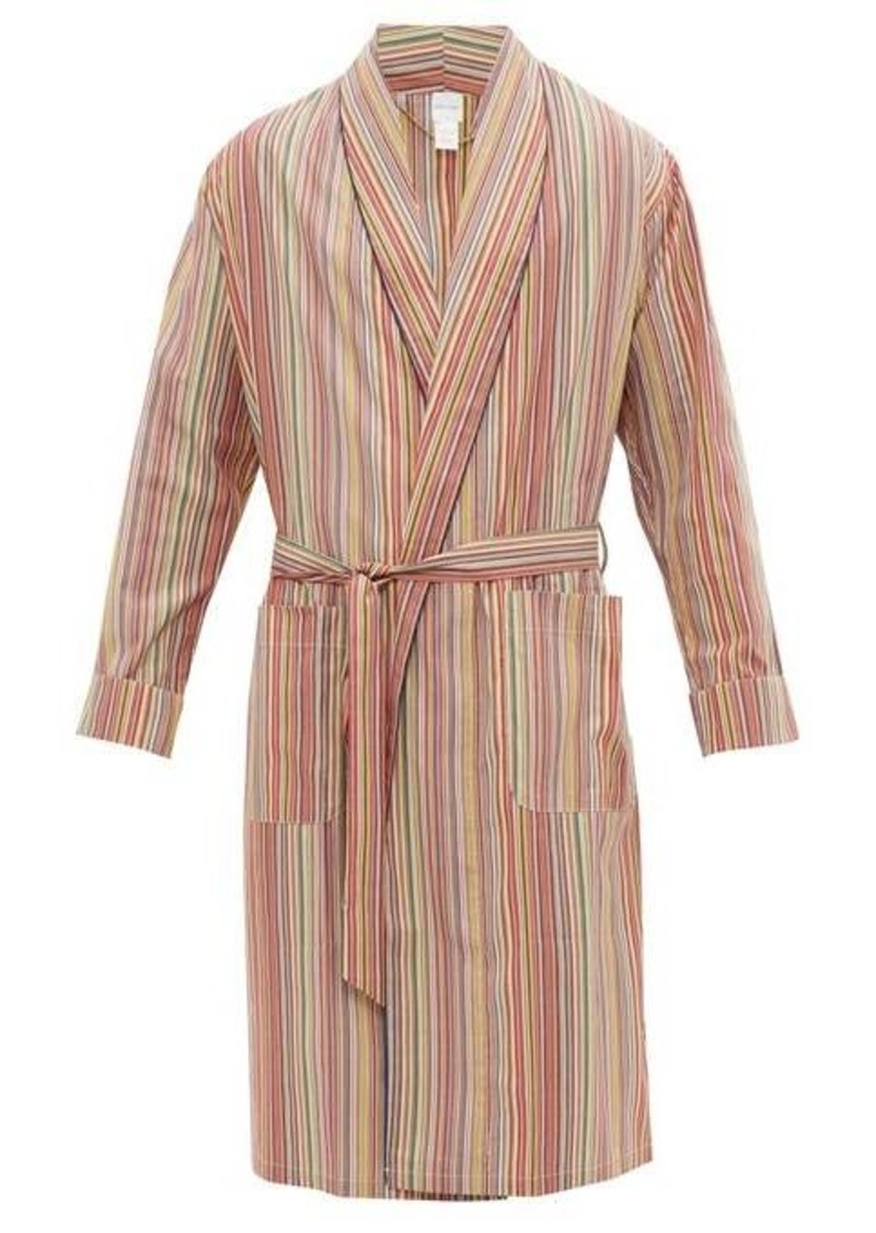 Paul Smith Signature stripe cotton-poplin robe