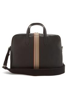 Paul Smith Signature stripe leather briefcase