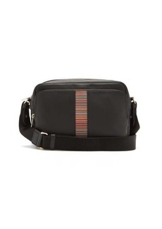 Paul Smith Signature-stripe leather cross-body bag