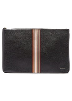 Paul Smith Signature stripe leather pouch