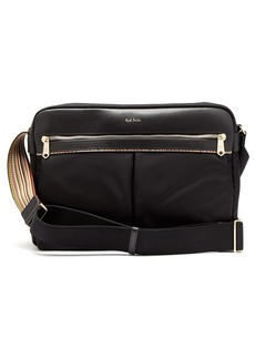 Paul Smith Signature stripe-trimmed messenger bag