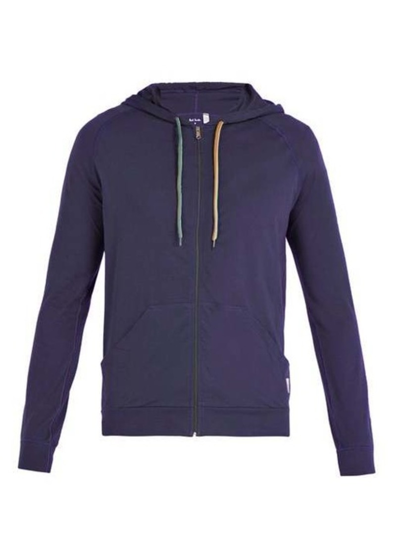 Paul Smith Signature stripe zip-through hooded sweatshirt