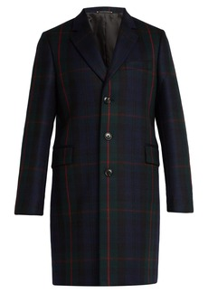 Paul Smith Single-breasted check wool and cashmere coat