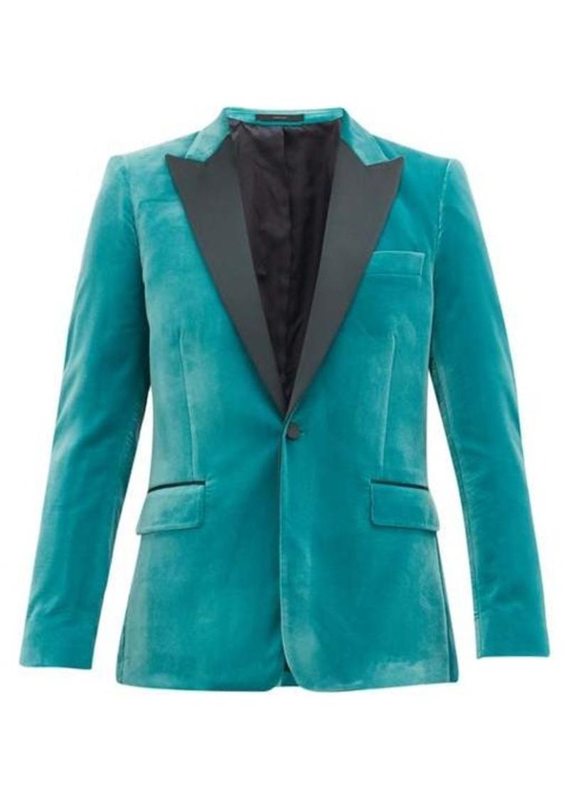 Paul Smith Single-breasted satin-lapel Soho-fit velvet jacket