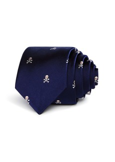 Paul Smith Skull Pattern Skinny Tie