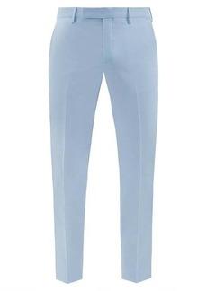 Paul Smith Slim-leg wool-blend hopsack trousers