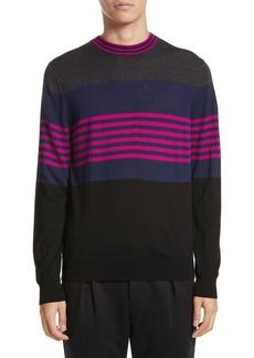 Paul Smith Stripe Merino Wool Crewneck Sweater