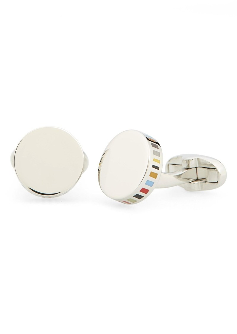 Paul Smith Stripe Round Cuff Links