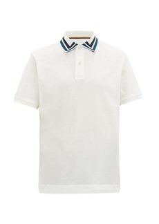 Paul Smith Striped-collar cotton-piqué polo shirt